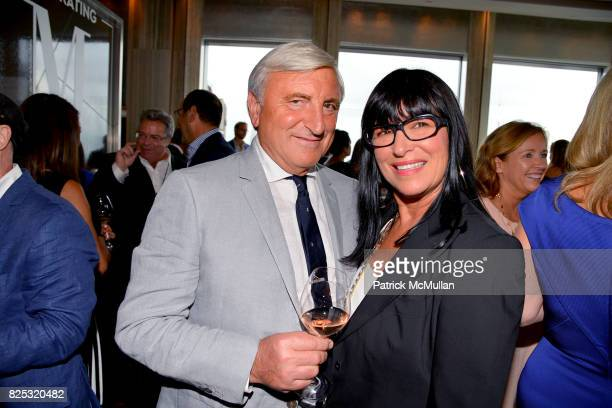 Julian Niccolini and Lisa Niccolini attend Magrino PR 25th Anniversary at Bar SixtyFive at Rainbow Room on July 25 2017 in New York City