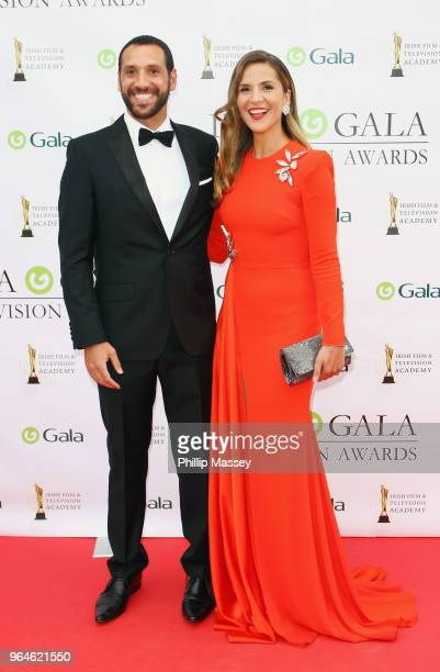 Julian Okines and Amanda Byram attend the IFTA Gala Television Awards on May 31 2018 in Dublin Ireland