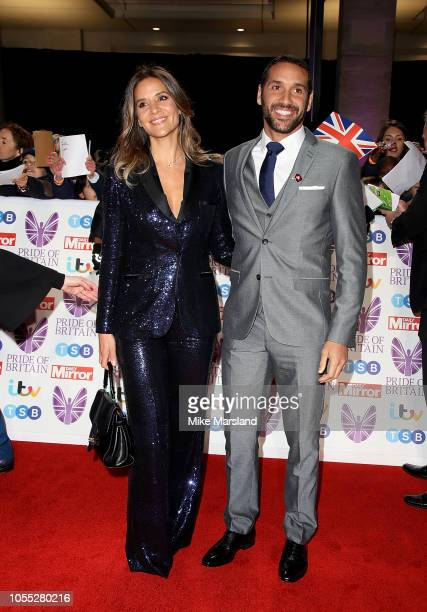 Julian Okines and Amanda Byram attend the Pride of Britain Awards 2018 at The Grosvenor House Hotel on October 29 2018 in London England