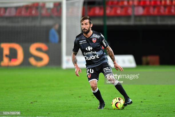 Julian Palmieri of Gazelec Ajaccio during the French Ligue 2 match between Valenciennes and Gazelec Ajaccio at Stade du Hainaut on August 27 2018 in...
