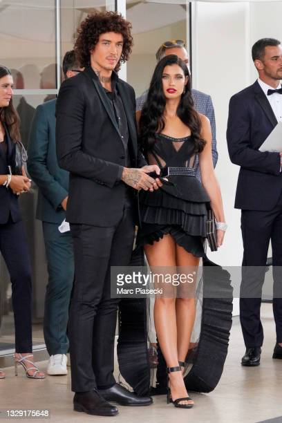 Julian Perretta and Kambree Dalton are seen during the 74th annual Cannes Film Festival at on July 16, 2021 in Cannes, France.