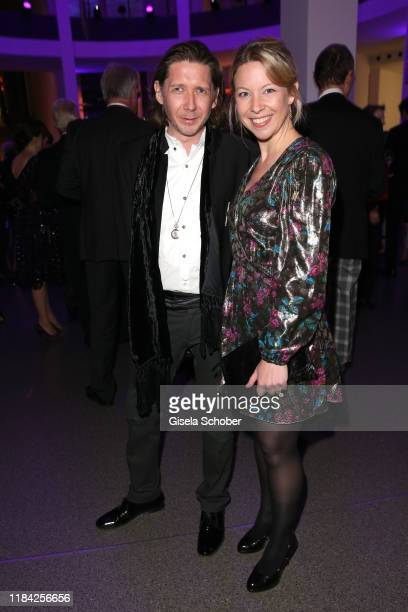 Julian Plica and Dr Monika Gratzke during the PIN Party at Pinakothek der Moderne on November 23 2019 in Munich Germany