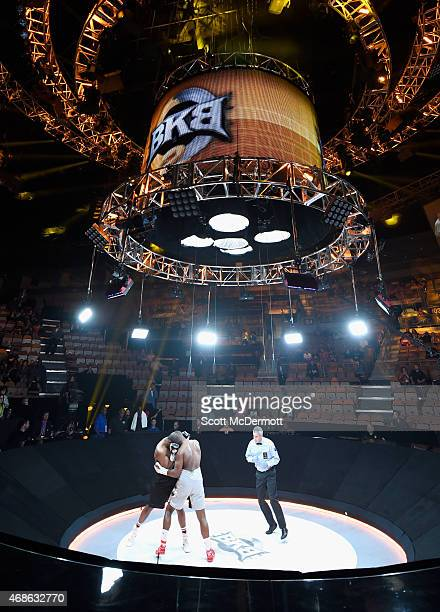 Julian Pollard fights Elijah McCall during BKB 2 Big Knockout Boxing at the Mandalay Bay Events Center on April 4 2015 in Las Vegas Nevada