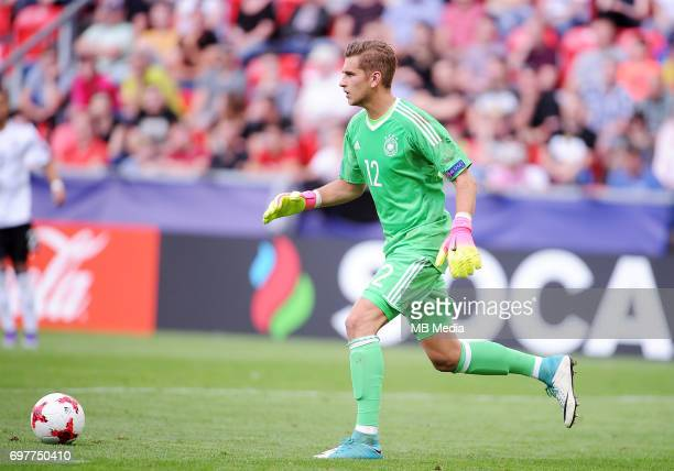 Julian Pollersbeck during the UEFA European Under21 match between Germany and Czech Republic on June 18 2017 in Tychy Poland