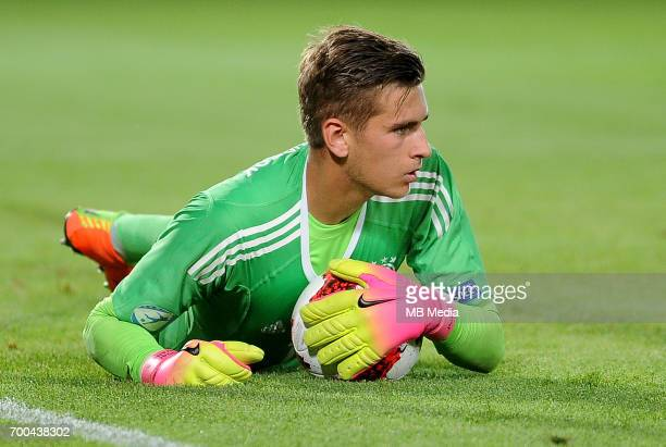 Julian Pollersbeck during the UEFA European Under21 match between Germany and Denmark at Cracovia Stadium on June 21 2017 in Krakow Poland