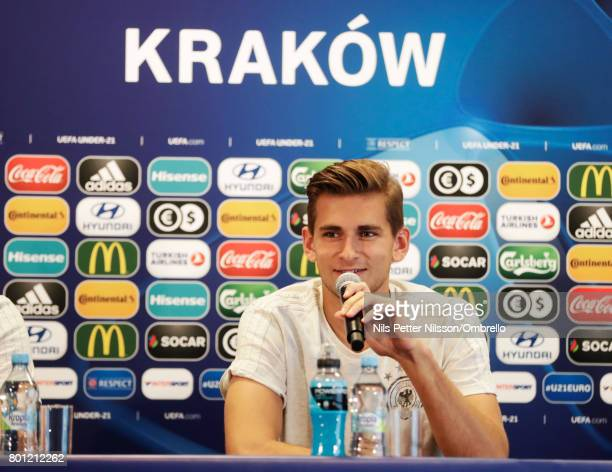 Julian Pollersbeck of Germany during the German U21 national team training session at Official Training Ground Wielczka on June 26 2017 in Krakow...