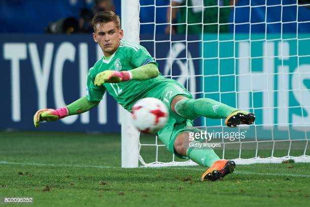 Julian Pollersbeck of Germany during the UEFA European Under21 Championship Semi Final match between England and Germany at Tychy Stadium on June 27...