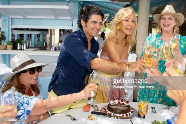 Julian Porras attends the Carmen Lomana's 70th birthday on August 1 2018 in Marbella Spain