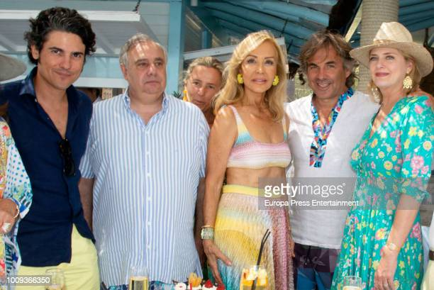 Julian Porras Fernando Martínez de Irujo Carmen Lomana and Hubertus Von Hohenlohe attend the Carmen Lomana's 70th birthday on August 1 2018 in...