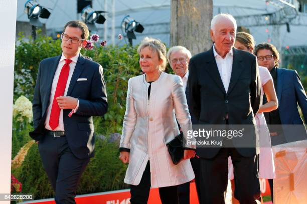 Julian Reichelt Armin MuellerStahl and his wife Gabriele Scholz attend the BILD100 event at Axel Springer Haus on September 4 2017 in Berlin Germany