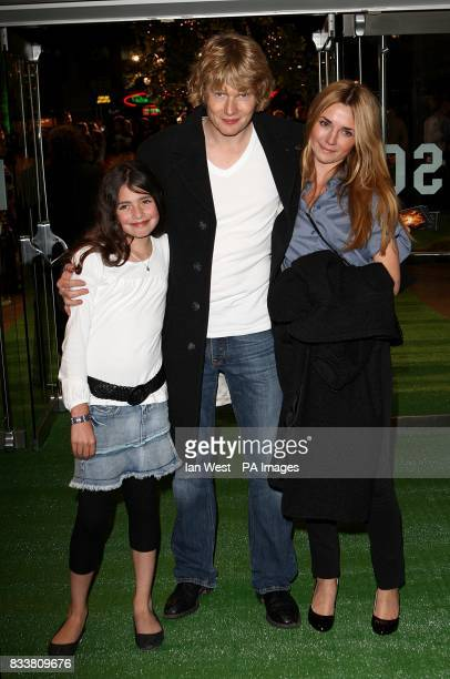 Julian RhindTutt and family arrive for the European Premiere of Stardust at the Odeon Leicester Square London WC2