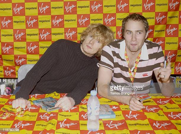 Julian RhindTutt and Oliver Chris of Green Wing during Green Wing InStore Appearance and DVD Signing at Virgin Megastore in London April 11 2006 at...