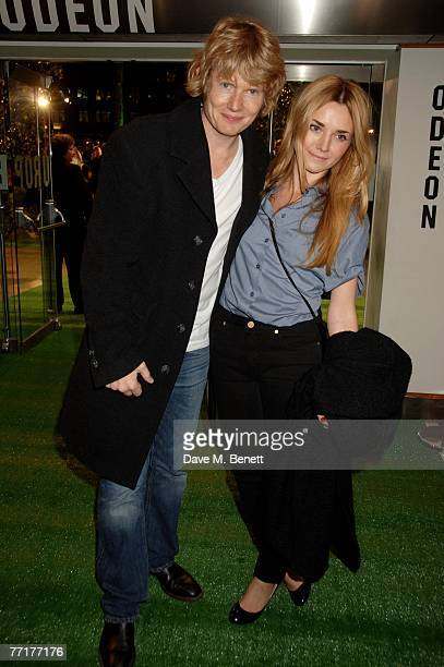 Julian RhindTutt and partner arrive at the UK film premiere of 'Stardust' at the Odeon Leicester Square on October 3 2007 in London England
