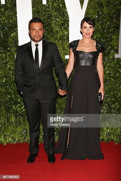 Julian Roman and Ana Serradilla attend the Vanity Fair México magazine launch at Casa Del Lago on March 24 2015 in Mexico City Mexico