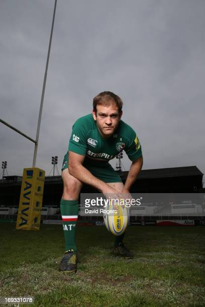 Julian Salvi of Leicester Tigers poses for a portrait at Welford Road on May 17, 2013 in Leicester, England.