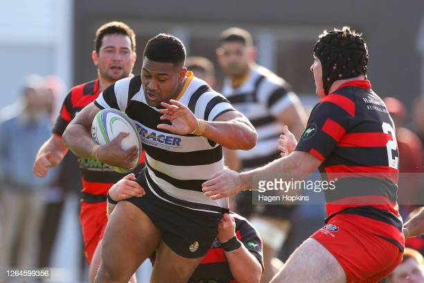 Julian Savea of Oriental-Rongotai charges forward during the Swindale Shield match between Poneke and Oriental-Rongotai at Kilbirnie Park on August...