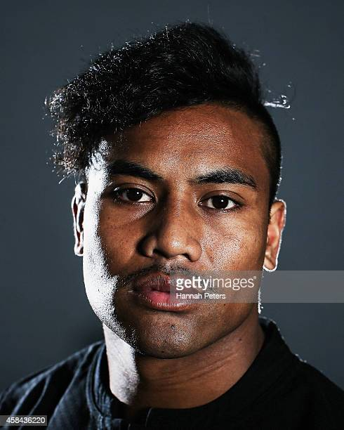 Julian Savea of the All Blacks poses during a New Zealand All Blacks portrait session on October 26 2014 in Auckland New Zealand