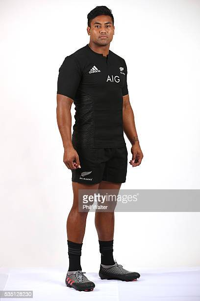 Julian Savea of the All Blacks poses for a portrait during a New Zealand All Black portrait session on May 29 2016 in Auckland New Zealand