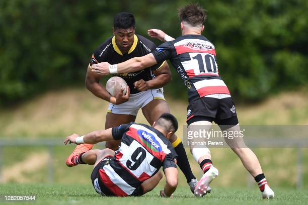 Julian Savea of Wellington charges forward during the round 7 Mitre 10 Cup match between Counties Manukau and Wellington at Navigation Homes Stadium...