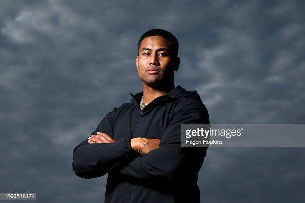 Julian Savea poses during a Hurricanes Super Rugby training session at Rugby League Park on August 03 2020 in Wellington New Zealand