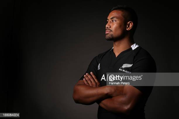 Julian Savea poses during a New Zealand All Blacks portrait session at the Heritage Hotel on November 1, 2012 in Auckland, New Zealand.