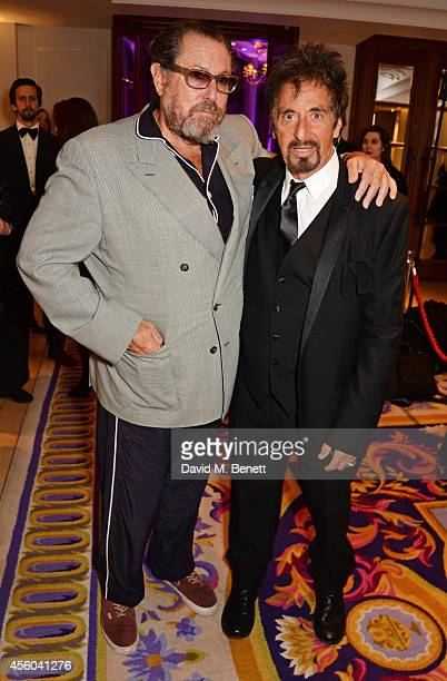 Julian Schnabel and Al Pacino attend the Al Pacino BFI Fellowship Dinner supported by Moet Chandon at the Corinthia Hotel London on September 24 2014...