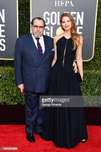 Julian Schnabel and Louise Kugelberg attend the 76th Annual Golden Globe Awards held at The Beverly Hilton Hotel on January 06 2019 in Beverly Hills...