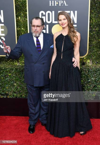 Julian Schnabel and Louise Kugelberg attends the 76th Annual Golden Globe Awards at The Beverly Hilton Hotel on January 6 2019 in Beverly Hills...