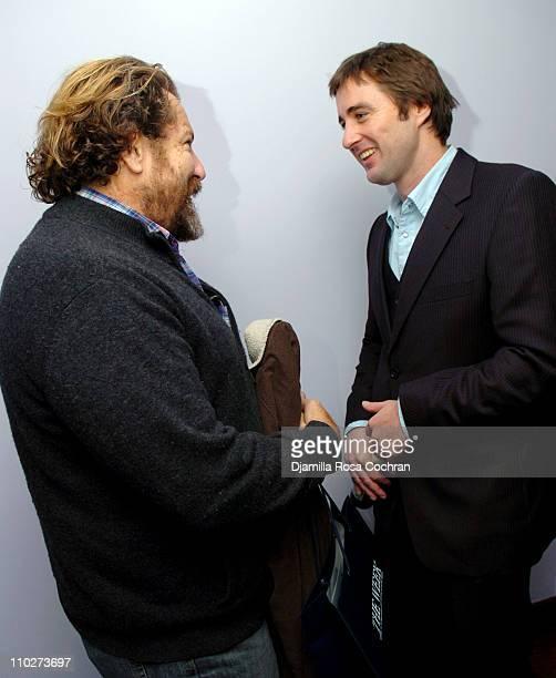 Julian Schnabel and Luke Wilson during Grand Classics Screening of Pat Garrett and Billy The Kid November 12 2005 at SoHo House in New York City New...
