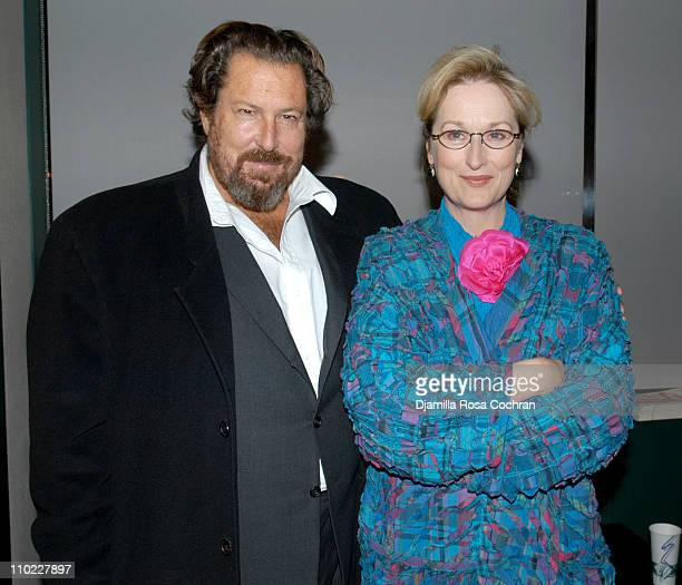 Julian Schnabel and Meryl Streep during The Film Society of Lincoln Center's Walter Reade Theater Presents Inventing Christopher Walken at Walter...