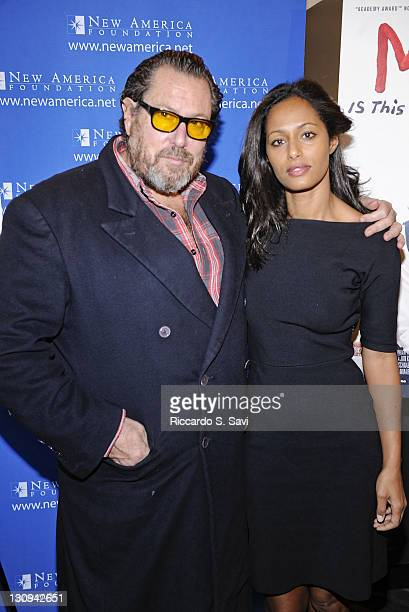 Julian Schnabel and Rula Jebreal attend the screening of Miral at West End Cinema on March 29 2011 in Washington DC