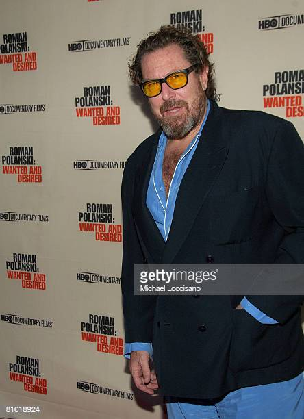 Julian Schnabel attends the HBO Documentaries premiere Of Roman Polanski Wanted And Desired at The Paris Thatre in New York City on May 6 2008