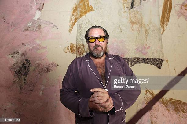 Julian Schnabel attends the press preview of 'Permanently Becoming And The Architecture of Seeing' at Correr Museum at on May 31 2011 in Venice Italy...