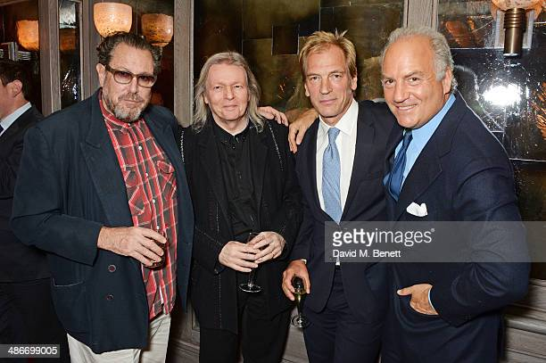 R Julian Schnabel Christopher Hampton Julian Sands and Charles Finch attend an exclusive dinner hosted by Charles Finch Mulberry and PORTER Magazine...