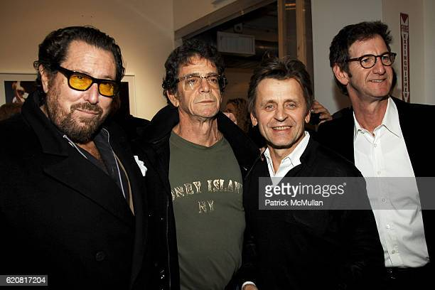 Julian Schnabel Lou Reed Mikhail Baryshnikov and Mark Seliger attend Private Viewing of 'Merce My Way' By Mikhail Baryshnikov at 401 Projects on...