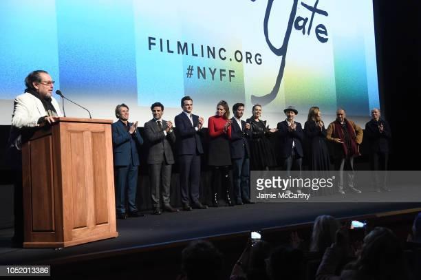 Julian Schnabel speaks onstage with Willem Dafoe Oscar Isaac Rupert Friend Stella Schnabel Vladimir Consigny Tatiana Lisovkaia Benoit Delhomme Louise...
