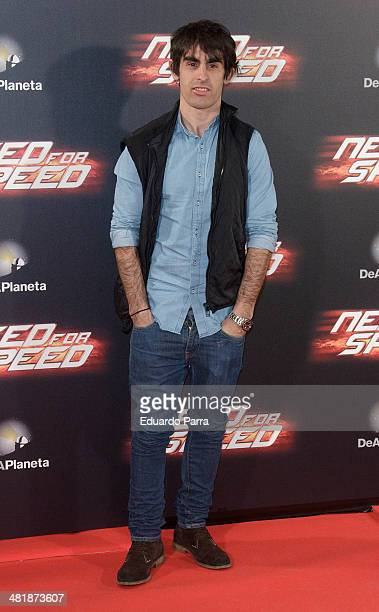 Julian Simon attends 'Need for speed' premiere photocall at Callao cinema on April 1 2014 in Madrid Spain