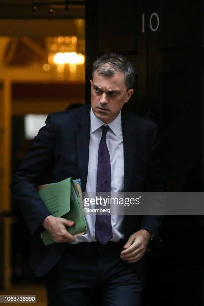 Julian Smith UK parliamentary secretary leaves after the weekly meeting of cabinet ministers at number 10 Downing Street in London UK on Tuesday Nov...