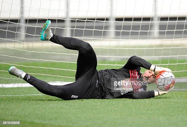 Julian Speroni during the Crystal Palace FC training session at Cape Town Stadium on July 23 2015 in Cape Town South Africa