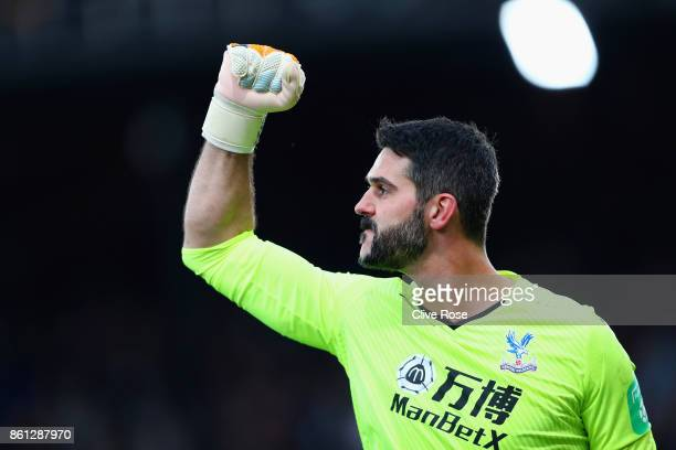 Julian Speroni of Crystal Palace celebrates after the Premier League match between Crystal Palace and Chelsea at Selhurst Park on October 14 2017 in...