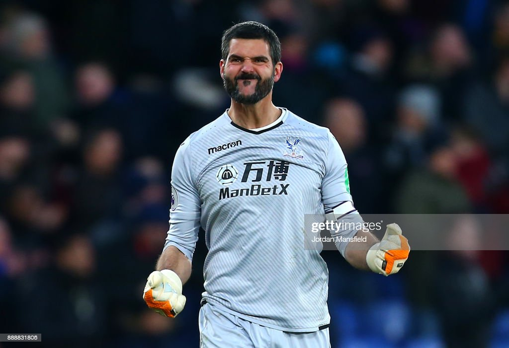 Julian Speroni of Crystal Palace celebrates during the Premier League match between Crystal Palace and AFC Bournemouth at Selhurst Park on December 9, 2017 in London, England.