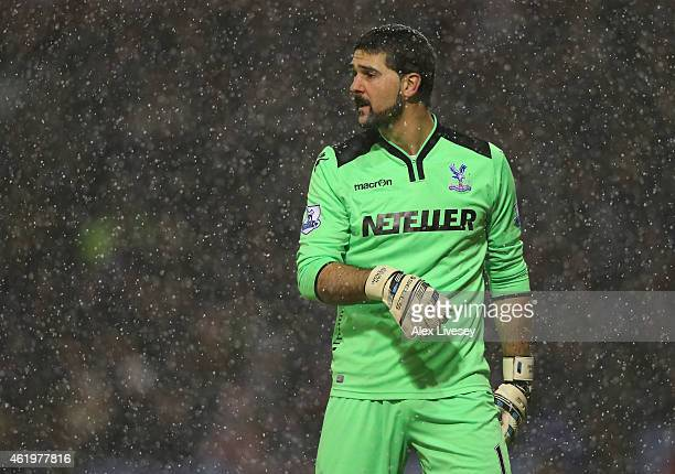 Julian Speroni of Crystal Palace during the Barclays Premier League match between Burnley and Crystal Palace at Turf Moor on January 17 2015 in...