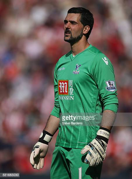 Julian Speroni of Crystal Palace during the Barclays Premier League match between Southampton and Crystal Palace at St Mary's Stadium on May 15 2016...