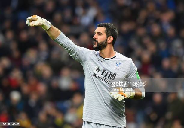 Julian Speroni of Crystal Palace during the Premier League match between West Bromwich Albion and Crystal Palace at The Hawthorns on December 2 2017...
