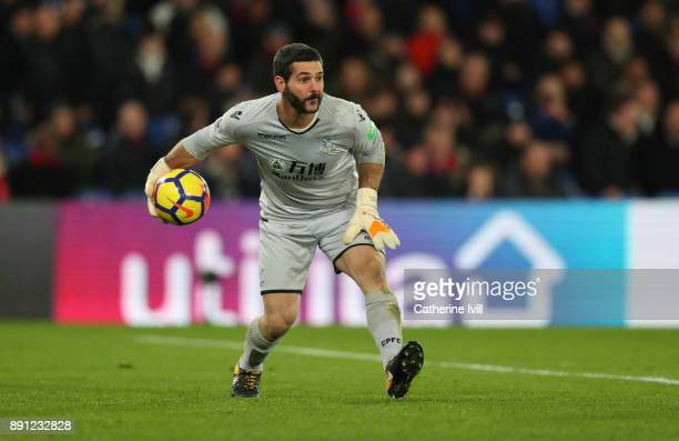 Julian Speroni of Crystal Palace during the Premier League match between Crystal Palace and Watford at Selhurst Park on December 12 2017 in London...
