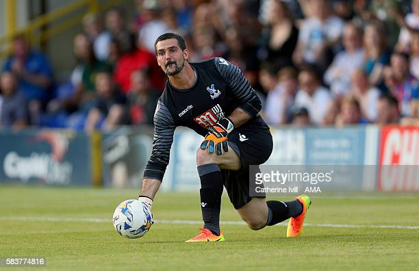Julian Speroni of Crystal Palace during the PreSeason Friendly match between AFC Wimbledon and Crystal Palace at The Cherry Red Records Stadium on...