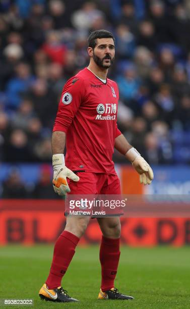 Julian Speroni of Crystal Palace in action during the Premier League match between Leicester City and Crystal Palace at The King Power Stadium on...