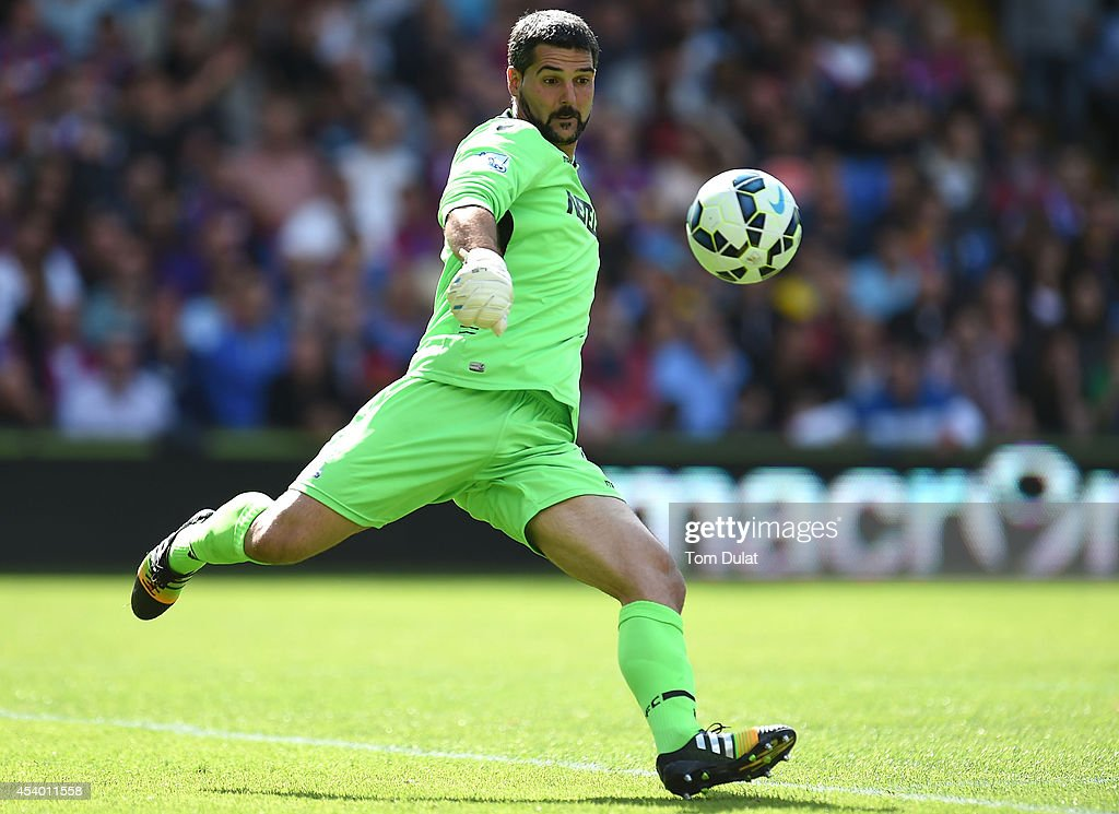 Julian Speroni of Crystal Palace in action during the Premiere League match between Crystal Palace and West Ham United at Selhurst Park on August 23, 2014 in London, England.