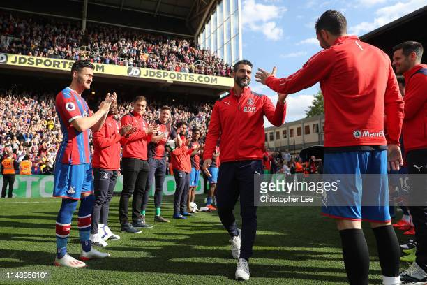 Julian Speroni of Crystal Palace is given a Guard of Honour by his team mates as he retires during the Premier League match between Crystal Palace...