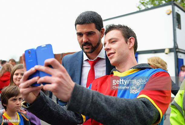 Julian Speroni of Crystal Palace poses for a photograph prior to the Barclays Premier League match between Crystal Palace and Aston Villa at Selhurst...
